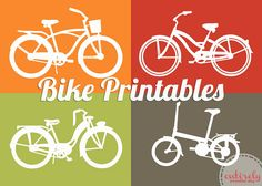I think I have just been inspired on how to decorate the playroom.A Little Tipsy: Ride Into Spring: Free Bike Printable Bicycle Birthday Parties, Bicycle Party, Project Life, Bike Icon, Paper Crafts, Diy Crafts, Scrapbooking, Room Themes, Little Boys