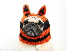 2f832d91419 Items similar to Tiger Dog Hat - Pug Hat - Dog Clothing - Pet Apparel - Dog  Hats - Pug Hats on Etsy