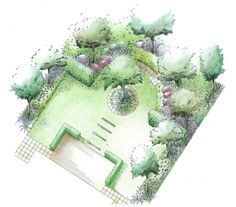 garden plan symmetrical layout formal structure