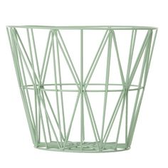 The lovely Wire basket in mint comes from Ferm Living, the basket is both functional and a stylish interior decoration. Use it to store your things or combine it with a Wire basket top to create a small side table or night stand. Large Wire Basket, Large Baskets, Wire Storage, Storage Baskets, Baby Storage, Laundry Baskets, Moderne Couch, Design Tisch, Nordic Art