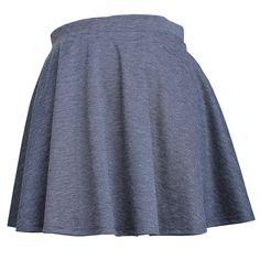 Mini Flare Skater Skirt  Color- Charcoal  #mini #skirt #charcoal #skater #pleated skirts #pleated skirts