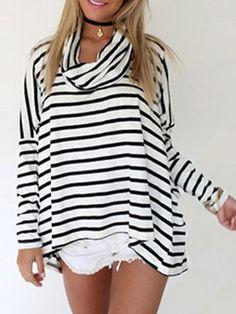 Jersey rayas manga larga -blanco negro 11.95