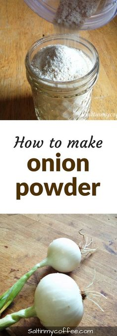 to make onion powder from scratch Here's how to make onion powder from fresh onions! It's so easy, and tastes so much better than store-bought!Here's how to make onion powder from fresh onions! It's so easy, and tastes so much better than store-bought! Homemade Spices, Homemade Seasonings, Dehydrated Food, Dehydrator Recipes, Canning Recipes, Dishes Recipes, Smoker Recipes, Rib Recipes, Barbecue Recipes