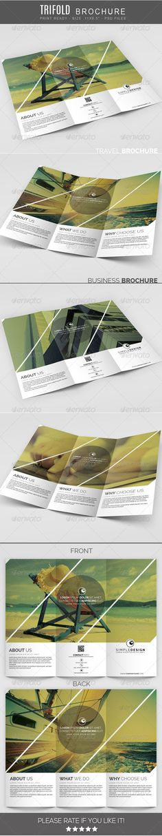 Travel Square Trifold Brochure Brochure Template Brochures And