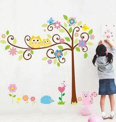 children's room wall mural ideas - Google Search
