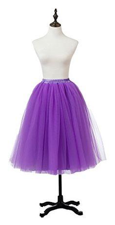 b263464751d Ikerenwedding Women s A Line Knee Length Tutu Tulle Prom… Swaro · Tutu skirt