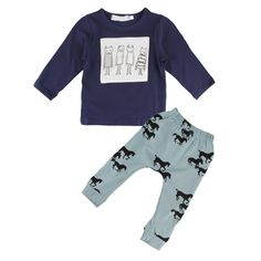 Newborn Infant Baby Boys Winter Warm Outfits Clothes T-shirt Tops+Pants 2PCS Set #Unbranded #DressyEverydayHoliday