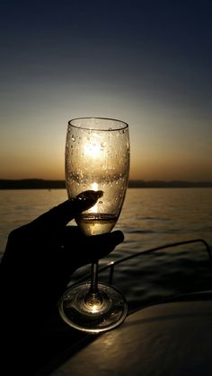 Sunset * Champagne * Lake of Zurich