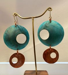 Aros de cobre sulfatado - Comprar en KUM Art & Design