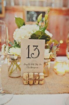 Basteln mit Korken für die Hochzeit