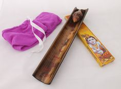 Bamboo Incense Holder Set with big Conch shell and Buddhist text (100% handmade) 30 Euro + shipping on Etsy