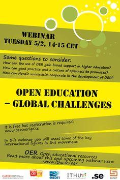 Open education - global challenges - Webinar