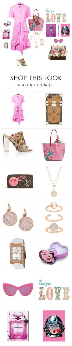 """""""Pop art"""" by mbarbosa ❤ liked on Polyvore featuring Boutique Moschino, Louis Vuitton, Vera Bradley, Swarovski, STELLA McCARTNEY, Brewster Home Fashions, Oliver Gal Artist Co. and Too Faced Cosmetics"""