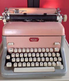 Pink Typewriter, Royal FP Model, 1950's