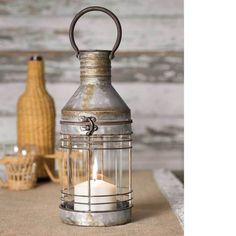Primitive Rustic Decor Candle Lantern With Glass Chimney Country Farmhouse New  #PrimitiveRusticDecorCandleLantern #Farmhouse