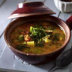 Grünkohl-Kartoffel-Suppe mit Chorizo Rezept