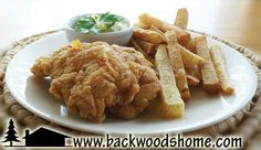 Fried foods by Richard Blunt.  Pictured here are his English-style, batter-fried fish with crispy steak fries.