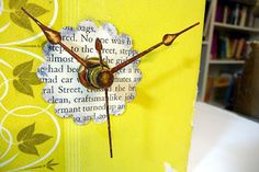 recycling paper for home decor: book clock {tutorial} - crafts ideas - crafts for kids