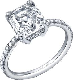 dream ring - the setting is the best part! Neil Lane asscher cut diamond and platinum ring (R01435)