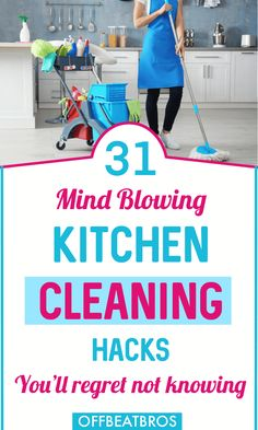 31 Genius Kitchen Cleaning Tips and Tricks You'll Regret Missing Household Cleaning Tips, House Cleaning Tips, Diy Cleaning Products, Kitchen Cleaning, Cleaning Hacks, Deep Cleaning, Kitchen Tips, Crazy Houses, Hard Water Stains