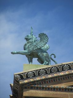 Griffin on the Rooftop of the Philadelphia Museum of Art.