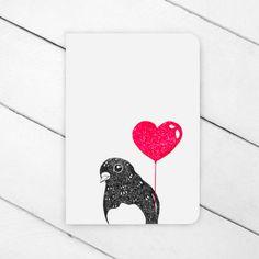 Romantic Robin Greeting Card from FlyAway BlueJay