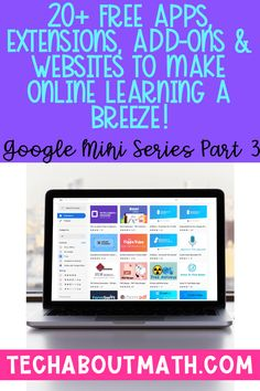 20+ FREE Apps, Extensions, Add-Ons & Websites to Make Online Learning a Breeze! - Tech About Math Feedback For Students, Learning Apps For Students, Teaching 5th Grade, Teaching Spanish, Teaching Technology, Technology Tools, Technology Integration, Math Classroom, Google Classroom For Students