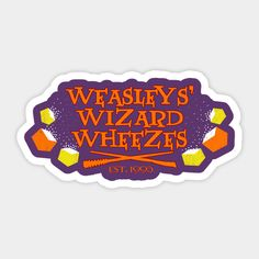 Shop wizard wheezes harry potter stickers designed by halfabubble as well as other harry potter merchandise at TeePublic. Harry Potter Journal, Deco Harry Potter, Harry Potter Cartoon, Cute Harry Potter, Harry Potter Room, Harry Potter Universal, Harry Potter Fandom, Stickers Harry Potter, Harry Potter Printables