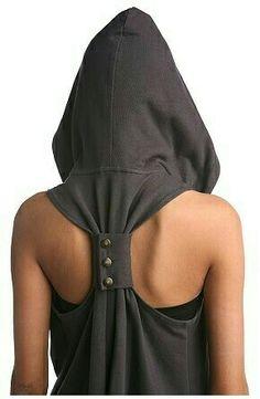 Hoodie - Racerback Hoodie (by Silence & Noise)(Diy Ropa) Look Hippie Chic, Look Boho, Diy Fashion, Fashion Outfits, Womens Fashion, Fashion Design, Mode Top, Vetement Fashion, Diy Clothing