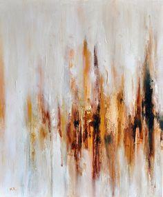 Original pintura abstracta moderna minimalista oro por AbstractArtM