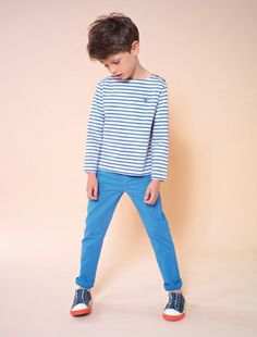 A similar look could be achieved with the Oliver + S Sailboat Top and Art Museum Trousers, from No Added Sugar for spring 2015 at Playtime Paris