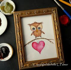 Michelle Palmer: Painting watercolor love...