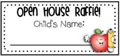 This blogger says she puts together a goodie basket for the kids to ogle at all day the day of open house. The kids beg their parents to go, so attendance is up. When the parents get there, they put their childs name on a slip and enter it into a basket for the drawing.