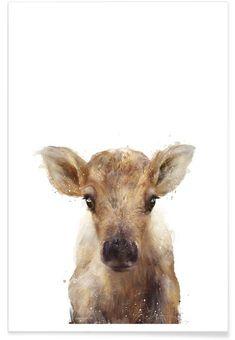Little Reindeer als Premium Poster von Amy Hamilton   JUNIQE