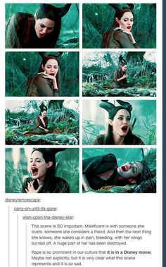 Maleficent. I thought it was obvious. Beautifully done. She has been so…