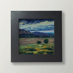 Colorado Landscape  original oil painting 4 x 4  by JoyMillerArt, $48.00
