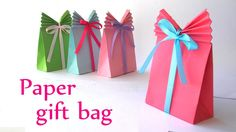 This looks so easy... gonna make some today! ~ Dee DIY: Paper GIFT BAG (Easy) - Innova Crafts