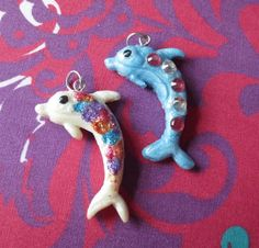 Polymer Clay Dolphins