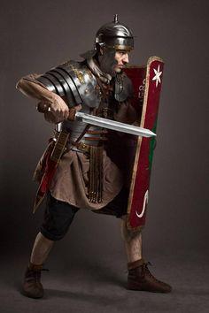 Legio XXI Rapax rank & file miles from half century AD in a classic fighting position. Legio XXI Rapax - historical reenactment of roman legion. Ancient Rome, Ancient Greece, Ancient History, European History, Ancient Aliens, American History, Imperial Legion, Roman Armor, Roman Legion