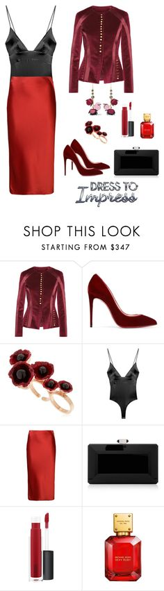 """""""Dress to impress"""" by polychampion-805 ❤ liked on Polyvore featuring Altuzarra, Christian Louboutin, Futuro Remoto, For Love & Lemons, T By Alexander Wang, Judith Leiber, John Lewis and Marni"""