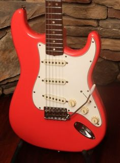 1966 Fender Stratocaster Fiesta Red $9,995.00 Fender Stratocaster, Fender Guitars, Fender Electric Guitar, Cool Electric Guitars, Unique Guitars, Vintage Guitars, Buy Instagram Followers, Guitars For Sale, Guitar Collection