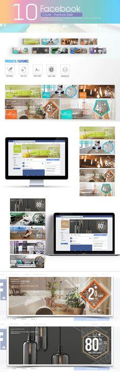 Social Media Banner, Social Media Graphics, Creative Facebook Cover, Facebook Cover Template, Furniture Sale, Branding, Templates, Instagram, Design