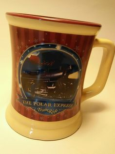 Warner Bros The Polar Express Train Ride Coffee Hot Chocolate Mug Cup in Collectibles, Advertising, Merchandise & Memorabilia | eBay