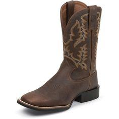 Men's Tony Lama Brown Pitstop Cowboy Boot
