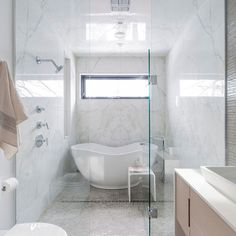 This is a really clever idea - incorporating the bath into the shower area. If you think you can't live without a bath then this would be a great solution for a small space.