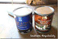 Sherwin Williams Porch and Floor paint. Floor painting how to.