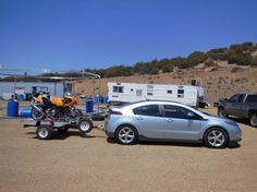 Chevrolet Volt hauling a Ducati motorcycle with EcoHitch!