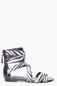 PIERRE BALMAIN Amelie Calf-Hair Sandals