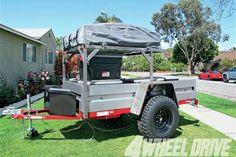 1207 4wd 01+economical off road trailer build part 4+arb simpson rooftop tent