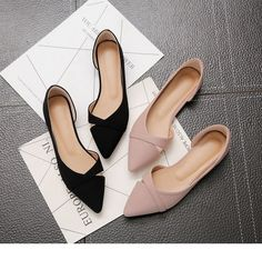 Fashionable casual flat shoes; New; Summer breathable comfortable shoes with soft soles; Women's Pointed Toe Flat Shoes Women's Shoes, Black Shoes, Cute Shoes Flats, Pink Flat Shoes, Ladies Flat Shoes, Shoes Women, Small Heel Shoes, Shoes Flats Sandals, Ballet Flats